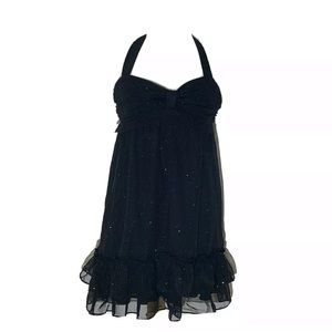 Johnny Martin Womens Dress 5 Black Sparkle Glitter